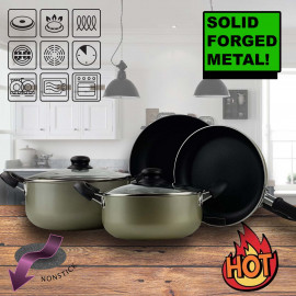 Logik Forged 7 Piece Non-Stick Cookware Set