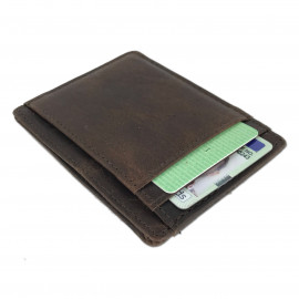 Slimline Leather Card Wallet