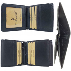 RFID Protected Mens Genuine Leather Wallet