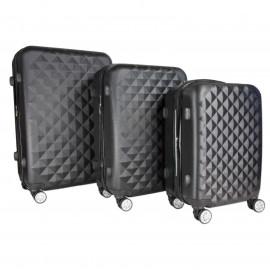 Wherever 3pc Luggage Suitcase Set TSA Hardcase Carry On Bag Travel