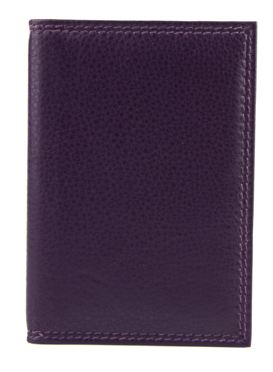 Purple Leather Card Holder w/Plastic Insert