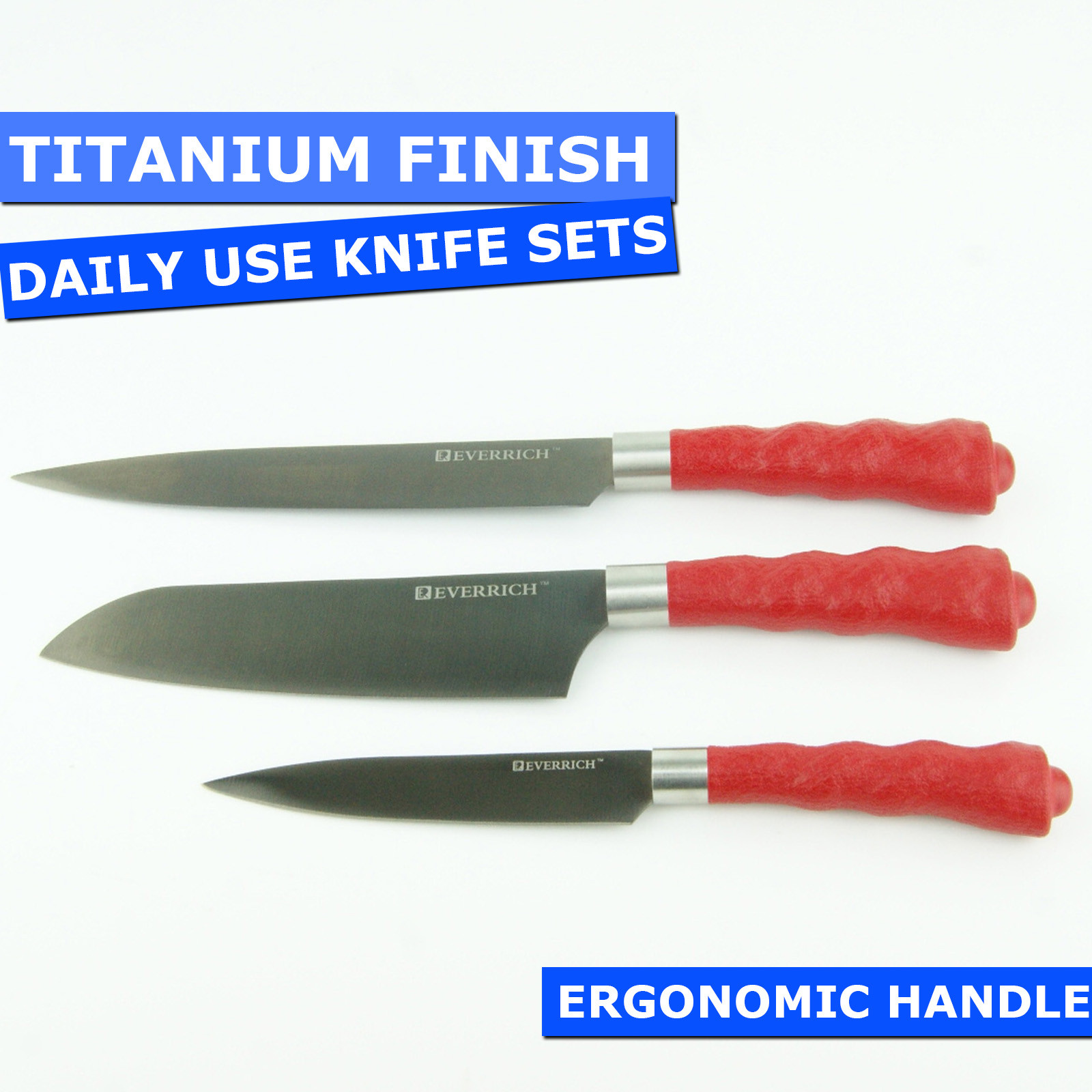 Titanium Non Stick Stainless Steel Daily Use Knife Set