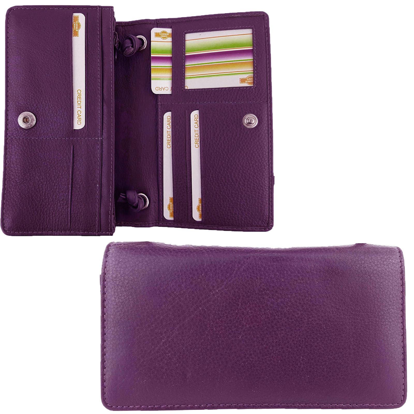 Purple Leather Craft Organiser