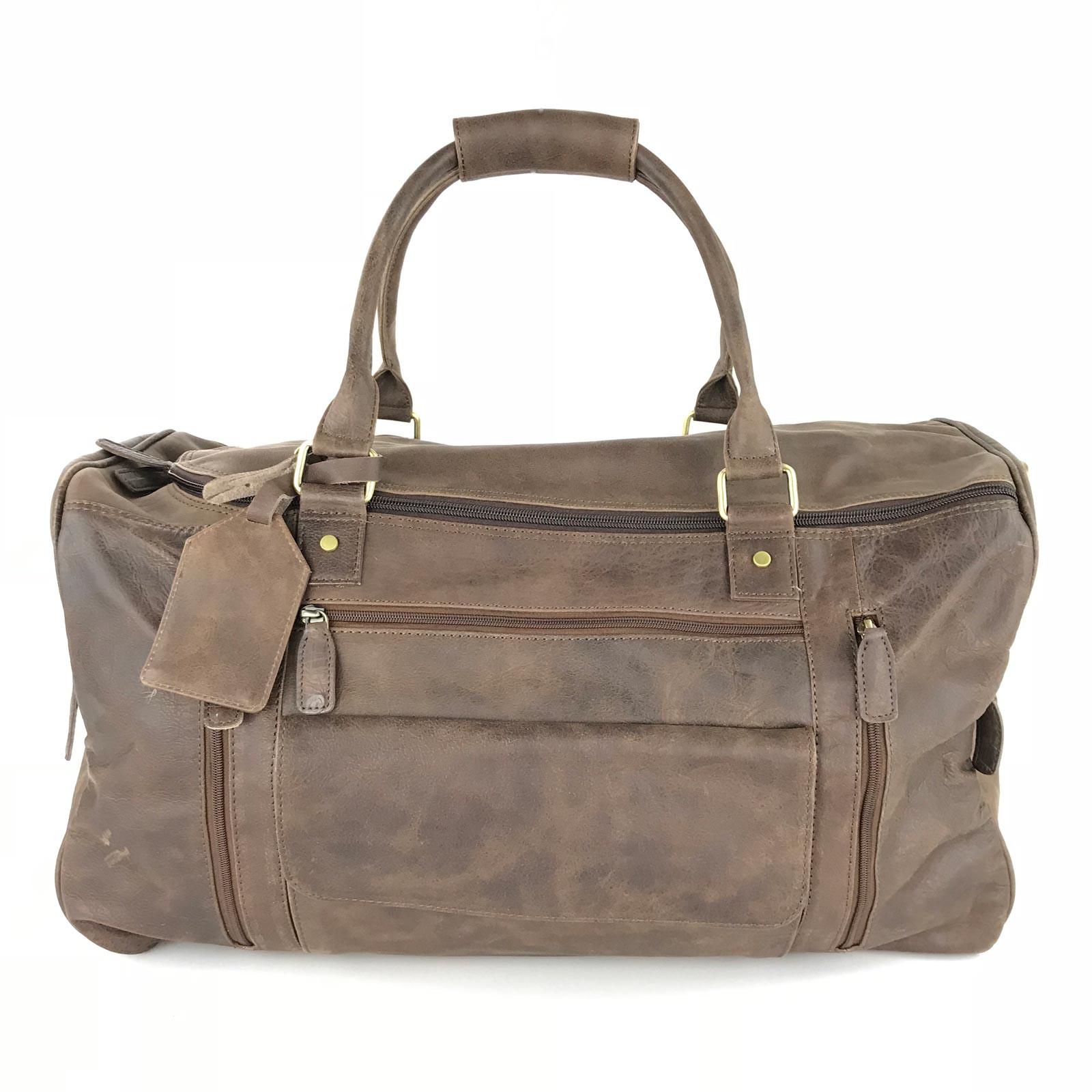 Mens Leather Duffle Bag