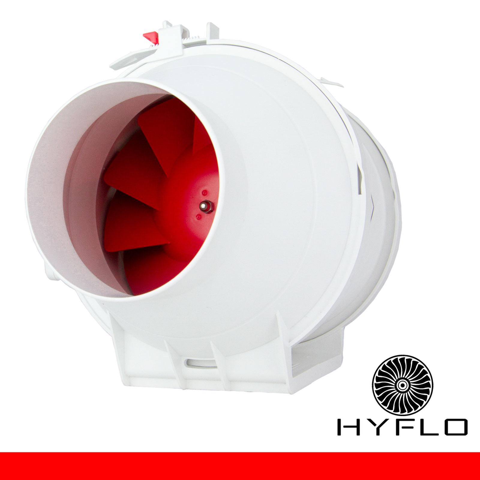 HYFLO Boost 4 Inch / 100mm Inline Mixed Flow Fan Aircon Booster Fan