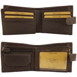Brown Mens Cowhide Leather Wallet