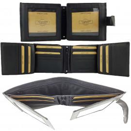 BLACK RFID Protected Genuine Leather Wallet