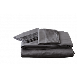 Jonquil Plissé Sheet Set Organic Cotton Certified-Queen-Stone