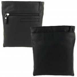 Black Leather Cross-Body Sling