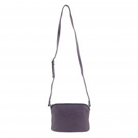 Purple Leather Cross-Body Sling