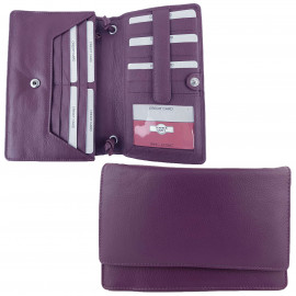 PURPLE Full Grain Leather Bag