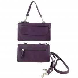 Purple Leather Craft Organizer