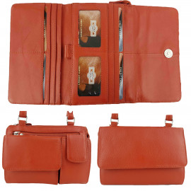 Orange Leather Craft Organiser