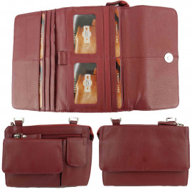 Red Leather Craft Organiser