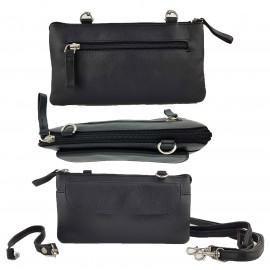 Black Leather Craft Organiser