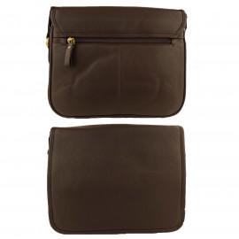 Brown Genuine Leather Shoulder Bag