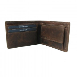 HUD 1A-HUDSON MEN'S LEATHER WALLET- TAN