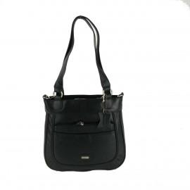 1653 Womens Leather bag-Black