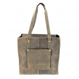 Leather Craft Genuine Leather Tote Shoulder Bag-HU Hunter