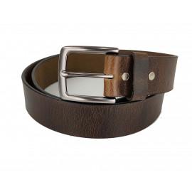 LC1204 38mm Width Dark Brown Unisex Leather Belt