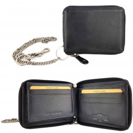 RFID Protected Slimline Leather Wallet ZIp-Around