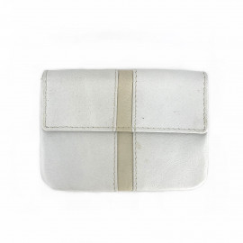 Leather Coin Pouch-White