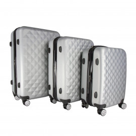 Wherever 3pc Luggage Suitcase Set TSA Hardcase Carry On Bag Travel